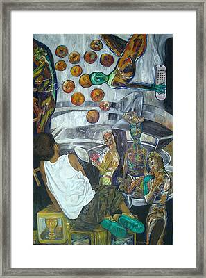 But This Time You Give Me Thirteen Apples Framed Print by Edwin  Jumalon