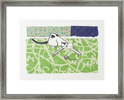 But We Were Just Starting To Have Fun Framed Print by Leela Payne
