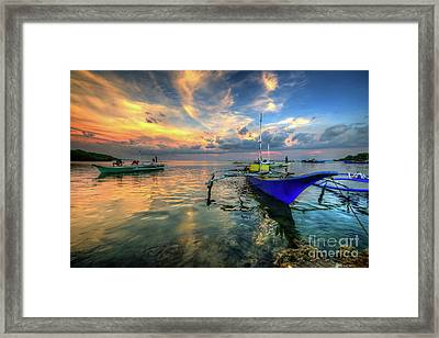 Butalid Causeway Sunset Framed Print