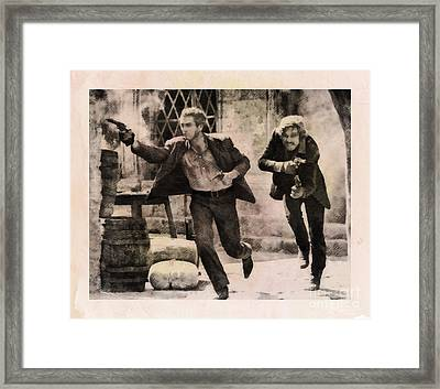 Butch Cassidy And The Sundance Kid, Classic Movie Framed Print