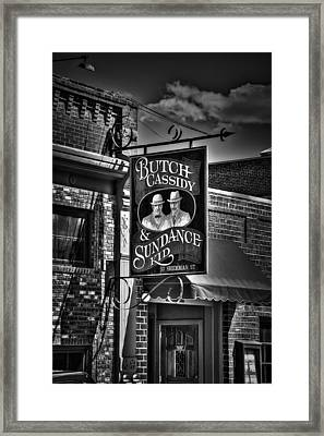 Butch Cassidy And The Sundance Kid Framed Print by Deborah Klubertanz