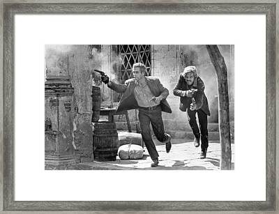 Butch Cassidy And The Sundance Kid - Newman And Redford Framed Print by Georgia Fowler
