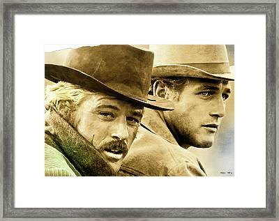 Butch Cassidy And The Sundance Kid     Framed Print by Thomas Pollart