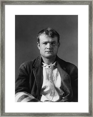 Butch Cassidy Mugshot 1894 Framed Print by War Is Hell Store