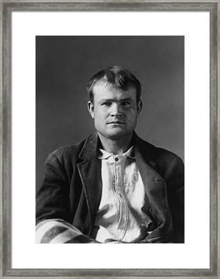 Butch Cassidy Mugshot 1894 Framed Print