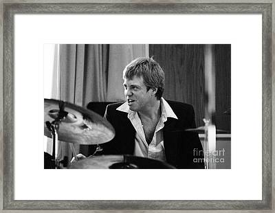 Butch Miles, Jazz Drummer Framed Print by The Harrington Collection