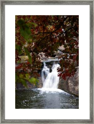Butcher Falls In Autumn Colors Framed Print by Fred Lassmann