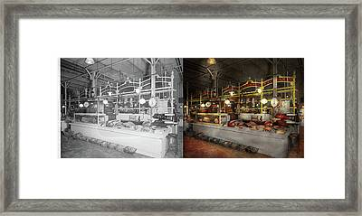 Butcher - Meat Party 1926 Side By Side Framed Print by Mike Savad