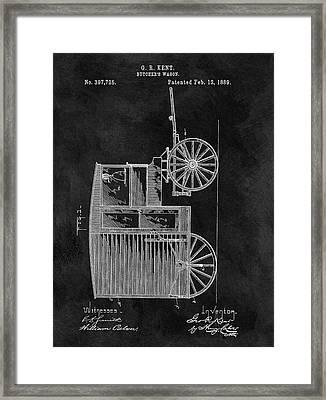 Butcher's Wagon Patent Framed Print
