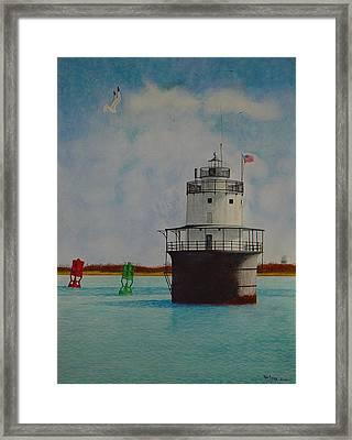 Butler Flats Lighthouse Framed Print by Ron Sylvia