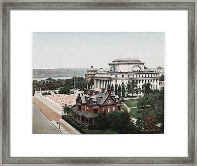 Butler Library At Columbia University Framed Print