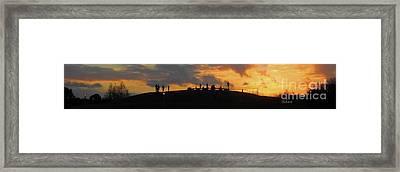 Butler Park Sunset Silhouette Austin Texas - One Horizon Line Framed Print