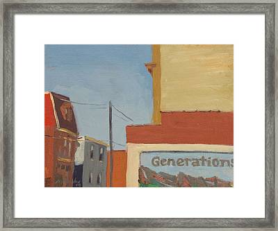 Butler Street Afternoon Framed Print by Martha Ressler