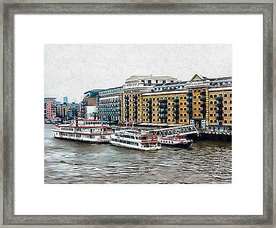 Butler's Wharf Area London Framed Print by Dorothy Berry-Lound