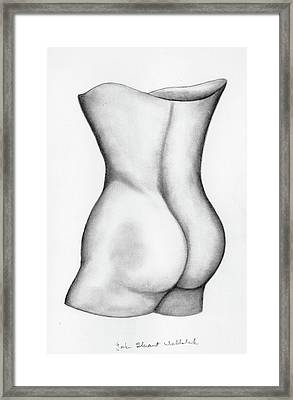 Framed Print featuring the drawing Butt Of A Study by John Stuart Webbstock