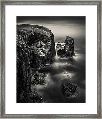 Butt Of Lewis Cliffs Framed Print by Dave Bowman