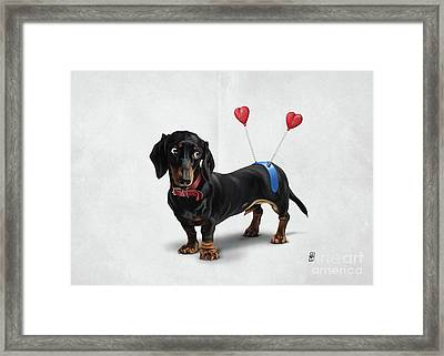 Butt Wordless Framed Print