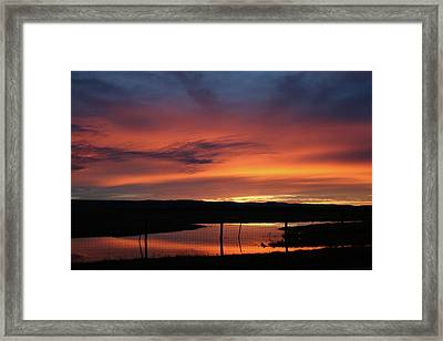 Butte County Sunrise Framed Print by Suzanne Lorenz