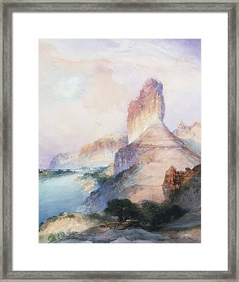 Butte Green River Wyoming Framed Print