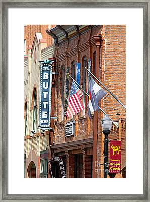 Butte Opera House In Colorado Framed Print by Catherine Sherman