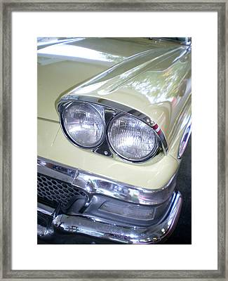 Butter And Chrome Framed Print by Jan Amiss Photography