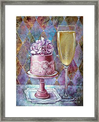 Butter Cream Rose Cake Framed Print by Geraldine Arata