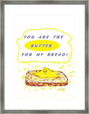 Framed Print featuring the drawing Butter For My Bread by Denise Fulmer