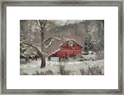 Framed Print featuring the mixed media Butter Lane by Trish Tritz