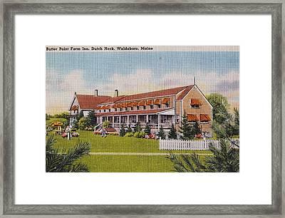 Butter Point Farm Inn Framed Print by Judy Bernier