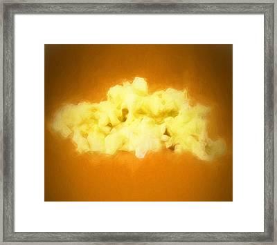 Butter Popcorn Framed Print