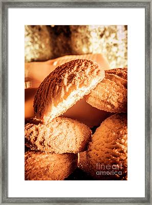 Butter Shortbread Biscuits Framed Print