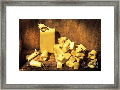 Buttering Up Framed Print