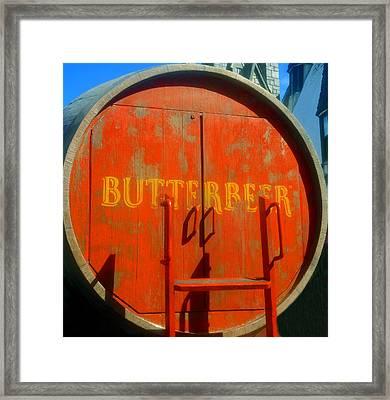Butterbeer Barrel Framed Print by David Lee Thompson