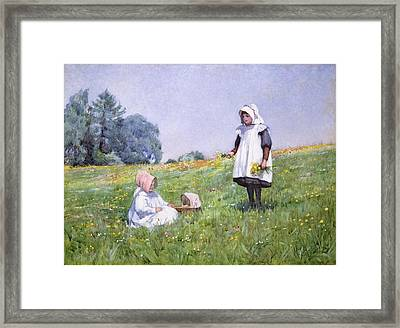 Buttercups And Daisies Framed Print by Minnie Jane Hardman
