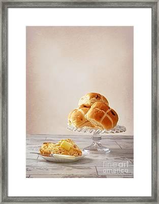 Buttered Hot Cross Bun Framed Print