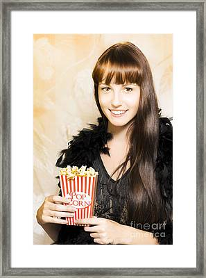 Buttered Popcorn At Showtime Framed Print