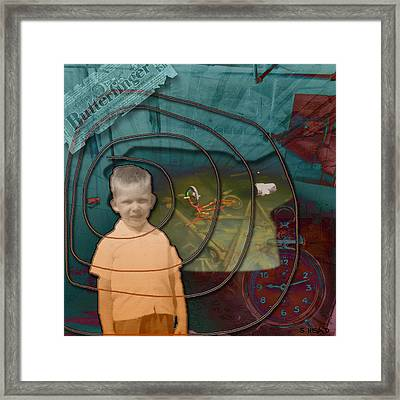Butterfinger - A Lost Childhood Framed Print by Steven Head