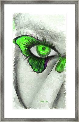 Butterfleye - Pencil Style Framed Print by Leonardo Digenio