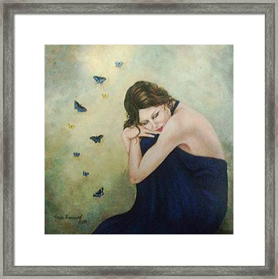 Butterflies 2 Framed Print by Joan Barnard
