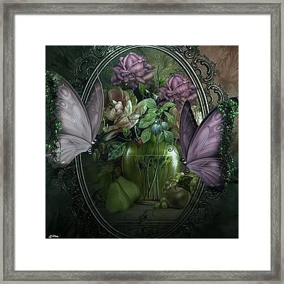 Butterflies And Flowers 002 Framed Print