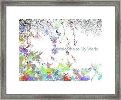 Butterflies And Humming Birds Framed Print