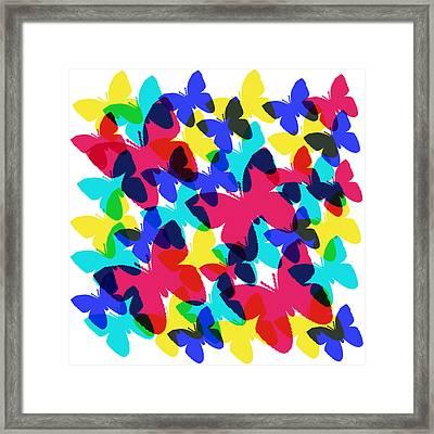 Framed Print featuring the digital art Butterflies by Bee-Bee Deigner
