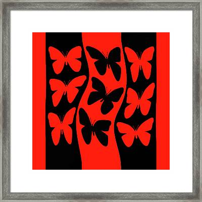 Butterflies Heading Home Framed Print