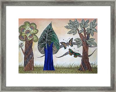 Butterflies In Love Framed Print