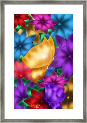 Butterflies In Paradise Framed Print by Karla White