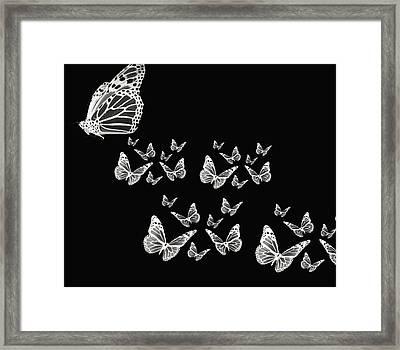 Butterflies Framed Print by Lourry Legarde