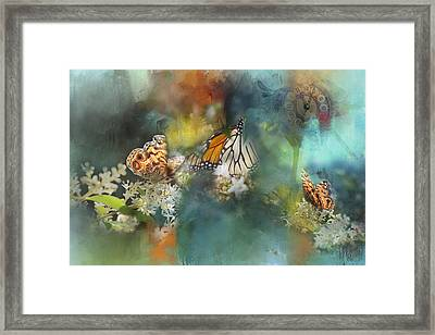 Butterflies On A Spring Day Framed Print by Toni Hopper