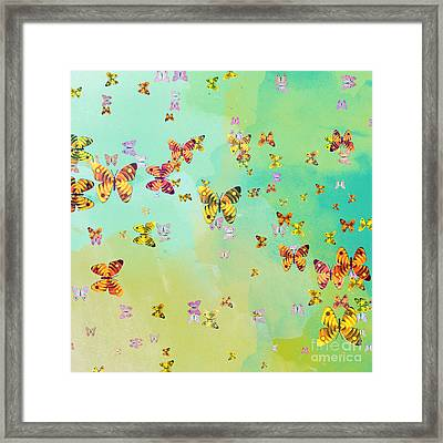Butterflies On Springtime Framed Print