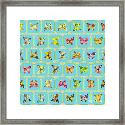 Butterflies Pattern Framed Print