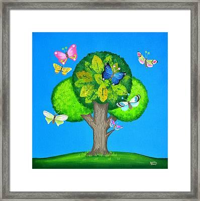 Butterflies Refuge Framed Print by Graciela Bello